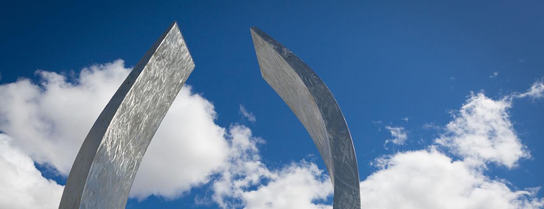 Photo of Beginnings sculpture.